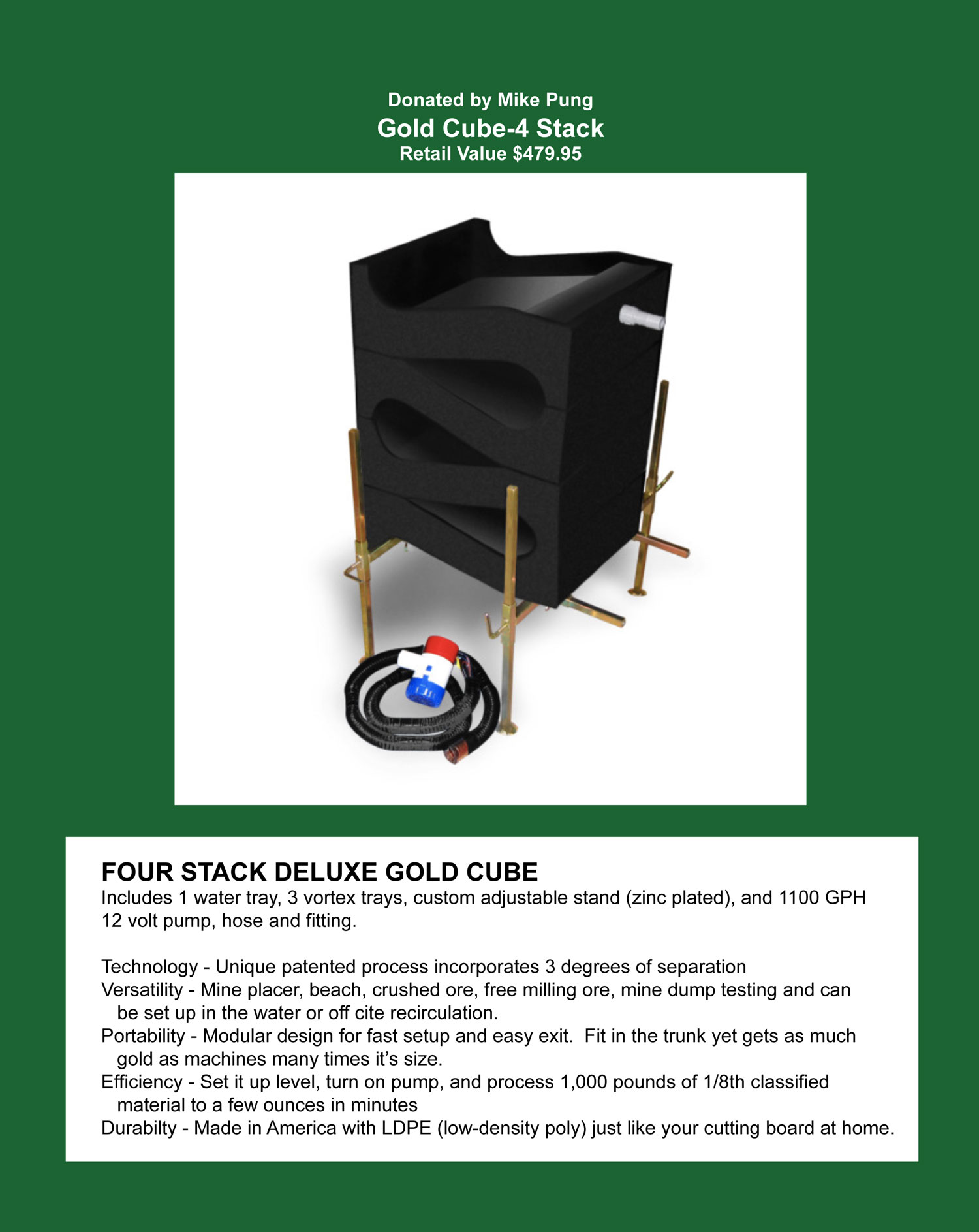 Gold Cube - Four Stack Deluxe
