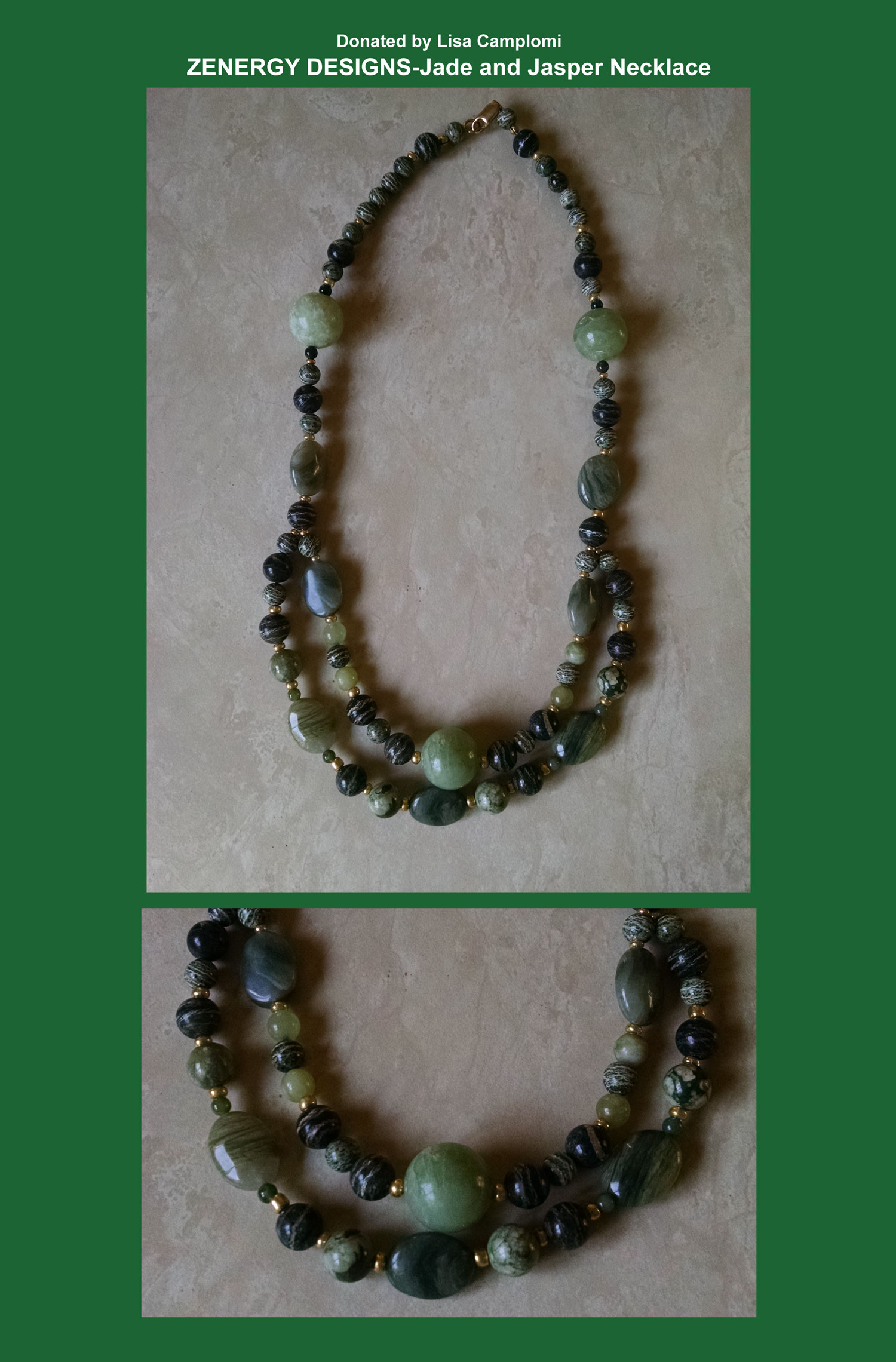 Jade and Jasper Necklace