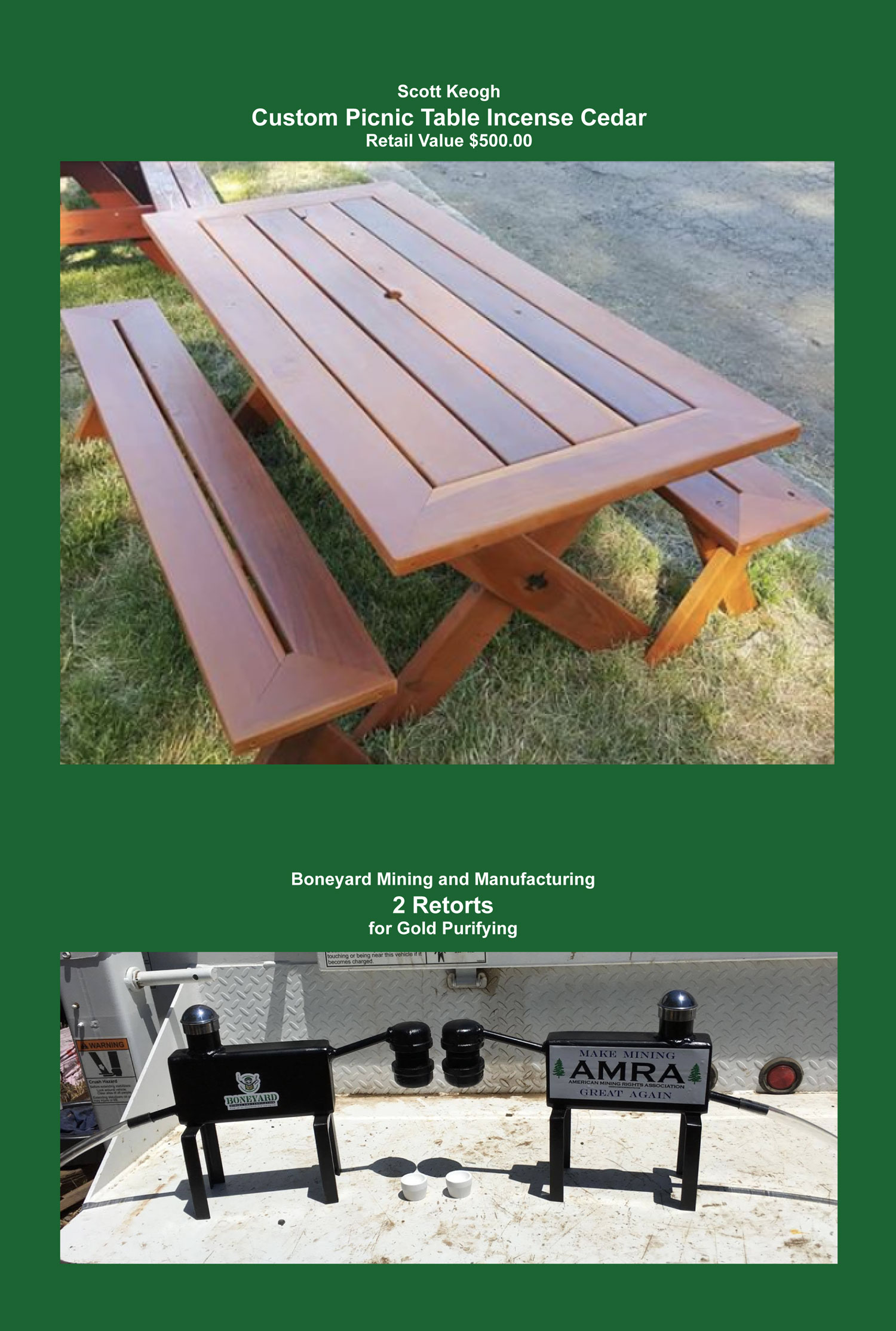 Picnic Table and Retort